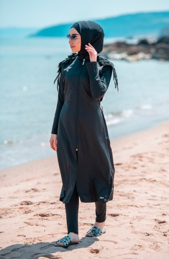 Black Swimsuit Hijab 307-01