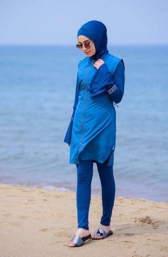 Petroleum Hijab Badeanzug 310-03