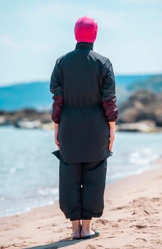Black Swimsuit Hijab 350-02