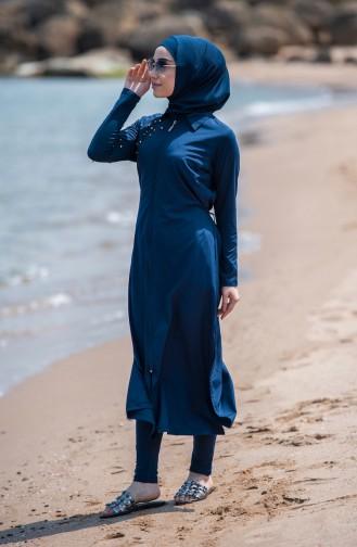 Navy Blue Swimsuit Hijab 386-02