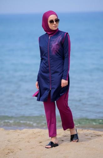 Hijab Swimsuit 405-03 Navy Blue 405-03