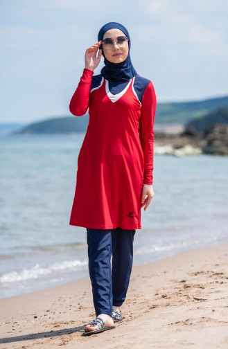 Hijab Swimsuit 6044-04 Red 6044-04