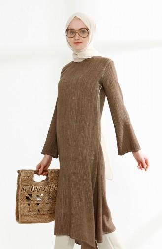 Şile Bezi Yıkamalı Tunik 9021-02 Camel