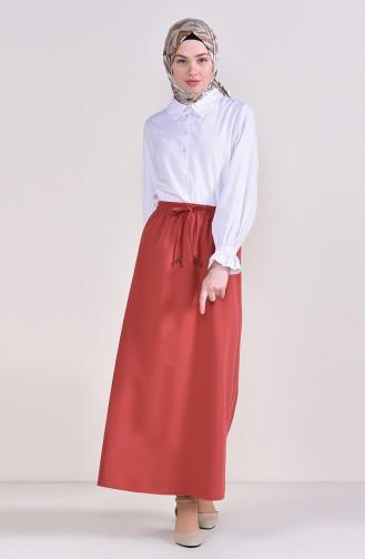 Elastic Waist Skirt 1001A-11 Dried Rose 1001A-11