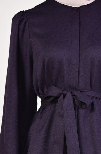 Belted Tunic Pants Binary Suit 0218-09 Dark Purple 0218-09