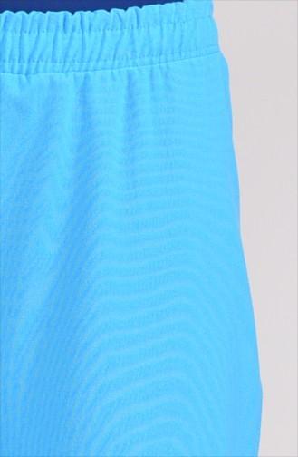 Lastikli Düz Paça Pantolon 2082A-01 Turkuaz 2082A-01