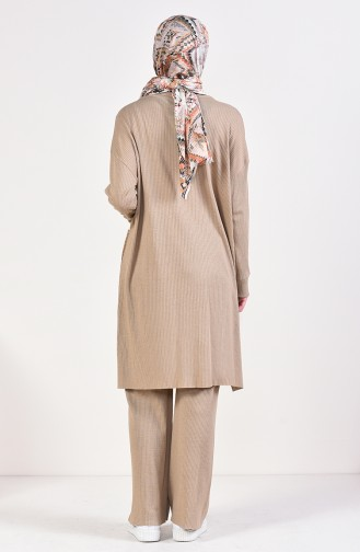 Asymmetric Tunic Trousers Double Suit 3314-02 Beige 3314-02