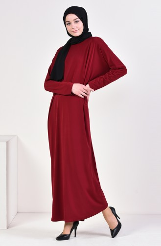 Sandy Yarasa Kol Elbise 8813-02 Bordo