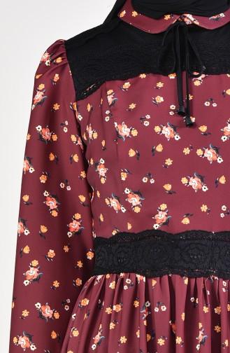 فستان بتصميم مورّد 28304-04 لون بني 28304-04