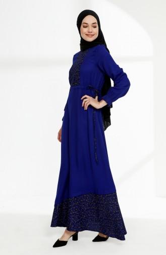 Robe Hijab Blue roi 3083-03