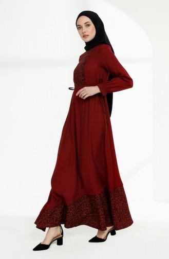 Robe Hijab Bordeaux 3083-05