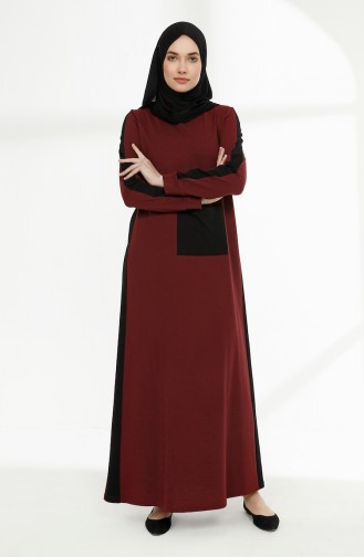 Claret red Dress 3095-12