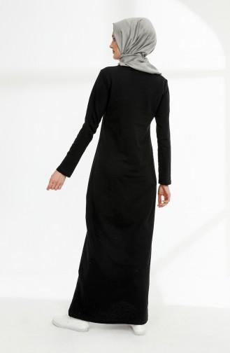 Schwarz Hijap Kleider 5010-01