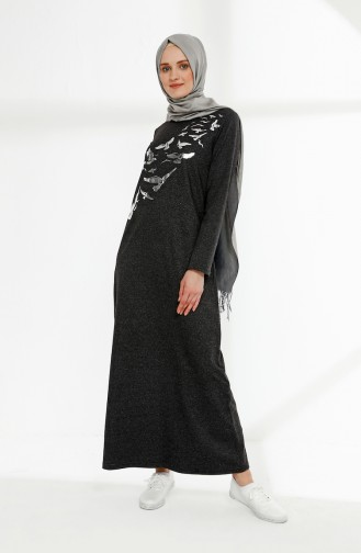 Printed Two Yarn Dress 5010-03 Anthracite 5010-03