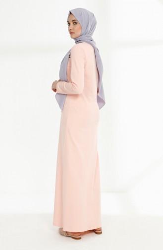 Printed Two Yarn Dress 5010-04 Powder 5010-04