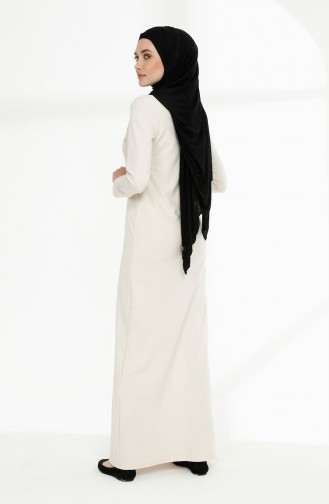 Naturfarbe Hijap Kleider 5010-06