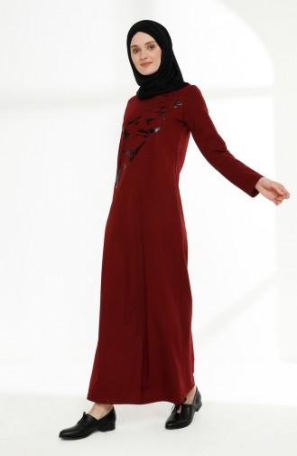 Weinrot Hijap Kleider 5010-09
