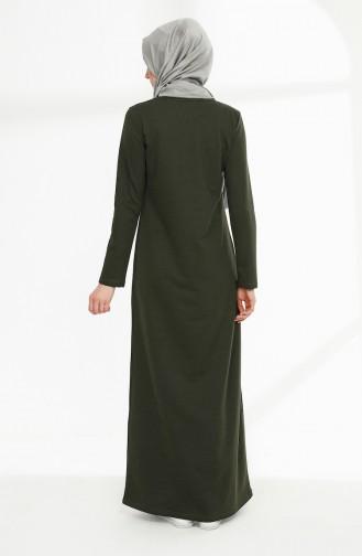 Khaki Hijap Kleider 5010-13