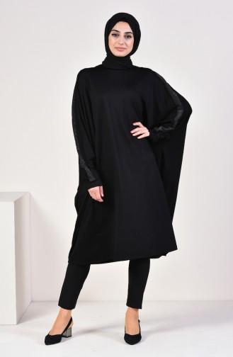 Viskon Salaş Tunik 4509-01 Siyah