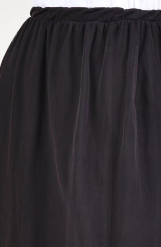 Elastic Waist Tulle Skirt 5018-01 Black 5018-01