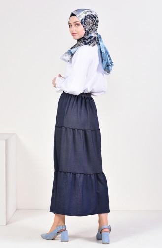 Navy Blue Skirt 7880-02