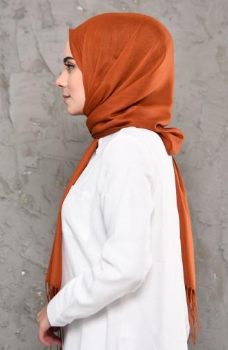 Plain Pashmina Shawl 901472-06 Taba 901472-06