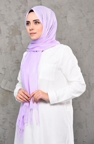 Plain Pashmina Shawl 901472-07 Lilac 901472-07