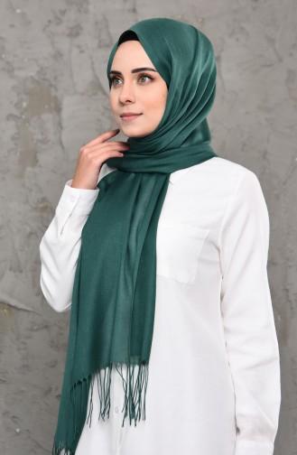 Plain Pashmina Shawl 901472-09 Green 901472-09