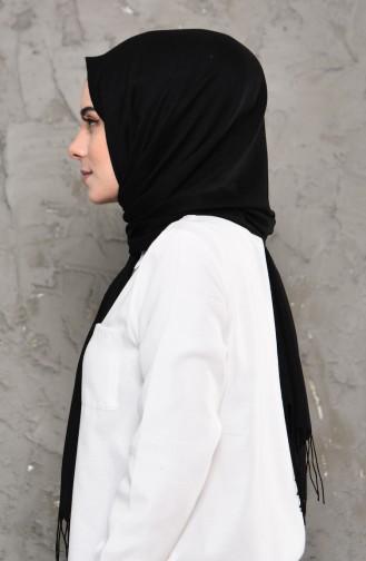 Plain Pashmina Shawl 901472-12 Black 901472-12
