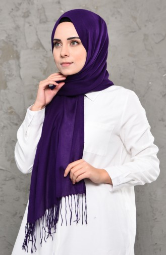 Plain Pashmina Shawl 901472-13 Purple 901472-13
