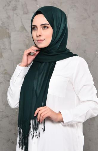 Plain Pashmina Shawl 901472-14 Dark Green 901472-14