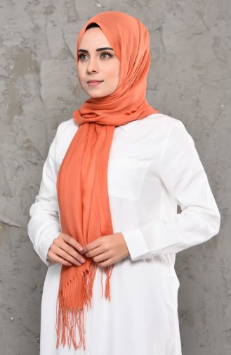 Plain Pashmina Shawl 901472-16 Orange 901472-16