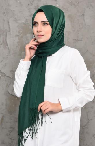 Plain Pashmina Shawl 901472-20 Emerald Green 901472-20