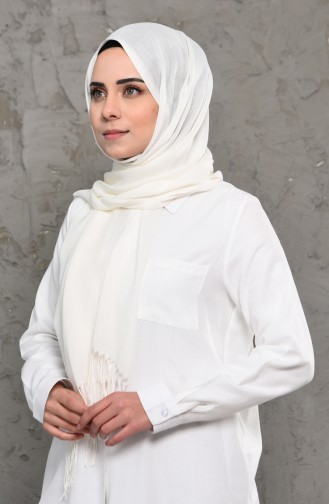 Plain Pashmina Shawl 901472-21 Cream 901472-21