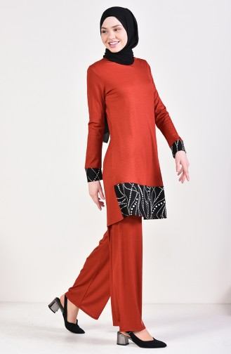 Corduroy Trousers Tunic Double Team 0614-04 Tiles  0614A-04