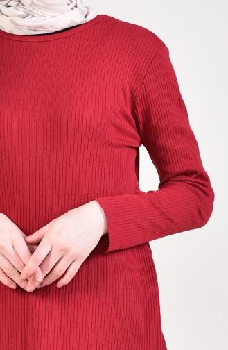 Asymmetric Tunic Pants Binary Suit 3399-15 Dark Claret Red 3399-15