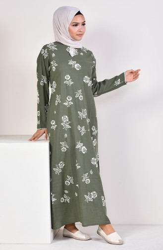 Khaki İslamitische Jurk 0450-05