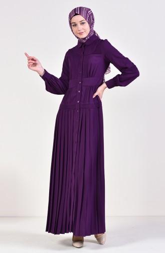 Pleated Dress 28410-03 Purple 28410-03