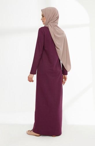 فستان ارجواني داكن 5011-11
