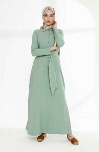 Grün Hijap Kleider 5048-02