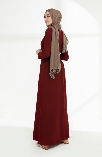 Weinrot Hijap Kleider 5048-04