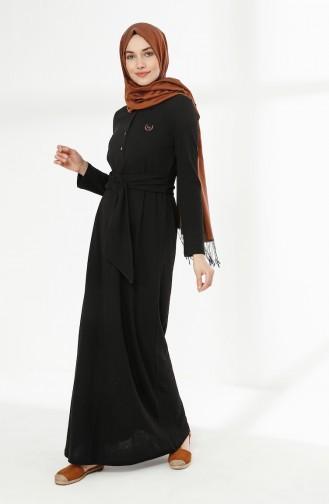 Robe Hijab Noir 5014-06