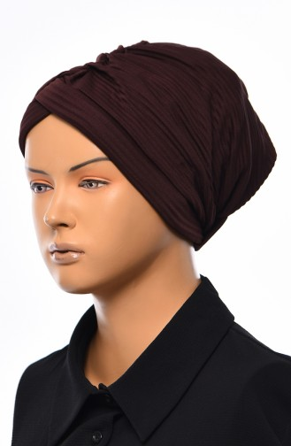 Seasonal Cross Bonnet  1037-05 Brown 1037-05