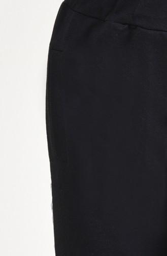 Şeritli Eşofman Altı 0025-01 Siyah
