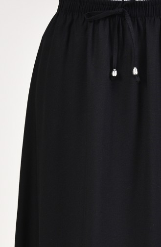 Elastic Waist Skirt 1124-03 Black 1124-03