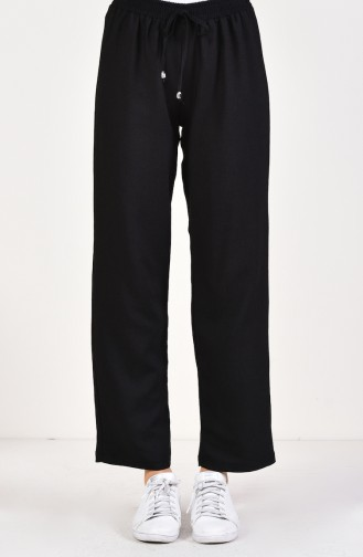 Waist Elastic Trousers 2081-01 Black 2081-01