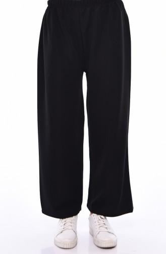 Elastic Waist Pants Skirt 7887-03 Black 7887-03