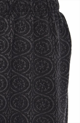 Patterned Pants Skirt 7888-01 Anthracite 7888-01