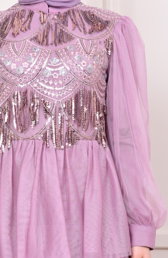 Sequin Tulle Evening Dress 1601-04 dry Rose 1601-04