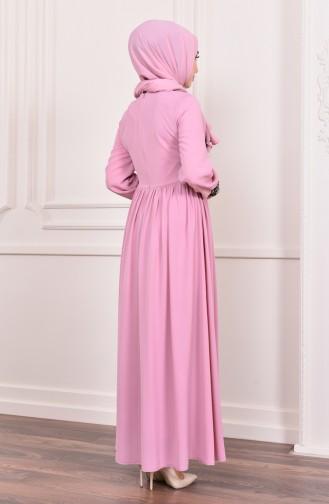 Pailletten Abendkleid  5005-04 Puder 5005-04